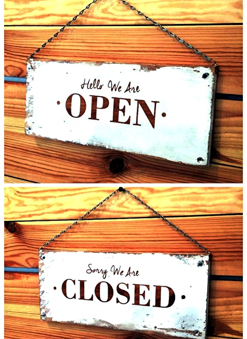 Oldwooddesign Open&Clossed Tablo Renkli